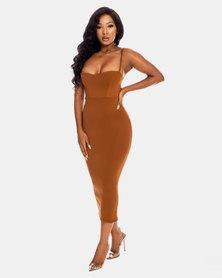 VADA Classic Tan Bodycon Dress