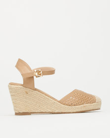 Queue Wedge Ankle Strap Espadrille Nude