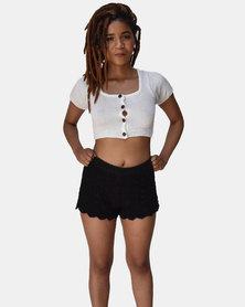 SKA Crochet Shorts Black