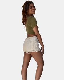 SKA Crochet Shorts Natural