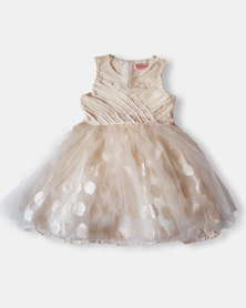 Vintage Party Dress Cream