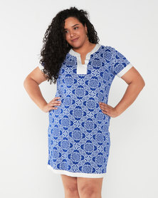 Maya Prass Cassiopeia Shift Dress Cobalt