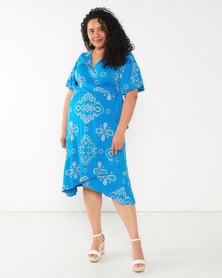 Maya Prass Desdemona Wrap Dress Turquoise