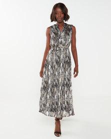 Miss Cassidy By Queenspark Animal Lurex Thread Woven Dress Multi