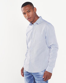 JCrew Stripe Formal Shirt Blue