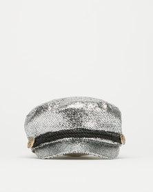 Queenspark Metallic Marine Hat Silver