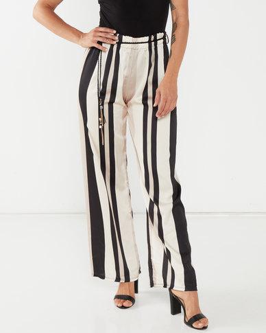 UB Creative Georgette Stripe Pants Multi