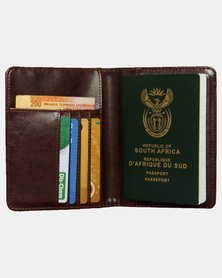 Wakanda Passport Wallet with RFID Protection - Coffee
