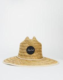 Rip Curl Script Straw Sun Hat Neutrals