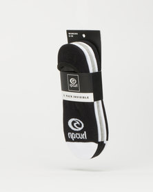 Rip Curl Icon Invisi Socks 5PK Multi