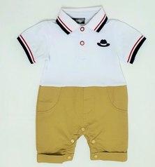 Anjo Couture Golfer Onesie - Cream