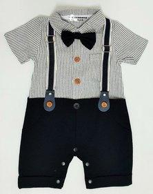 Anjo Couture Suspender Onesie - Black