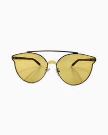 Miss Boss Tinted Aviator Sunglass Yellow