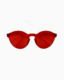 Miss Boss On-Trend Tinted Sunglass Red