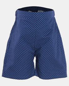 Shweshwe Kidz Mason Shorts - Blue
