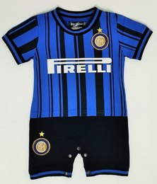 Anjo Couture Soccer Inspired Onesie - Blue & Black