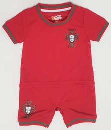 Anjo Couture Soccer Inspired Onesie - Red