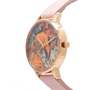 Aurelia - Luxury Bohemian Watch, Rose Gold, Dusty Pink Genuine Leather Strap