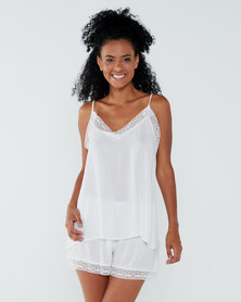 Yarin Amram Summer Short Pajama Set White