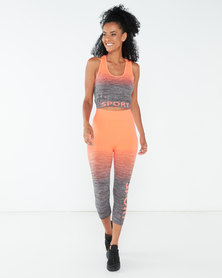 Yarin Amram Active-Wear Medium Set Orange