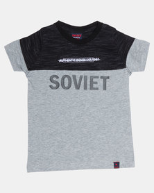 Soviet Warrington Boys Short Sleeve Fashion Tee Grey