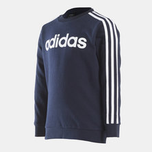 ESSENTIALS 3STRIPE CREW SWEATSHIRT