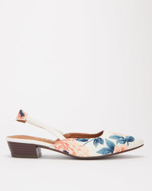 SOA Kaiza Sling Back Sandals Cream