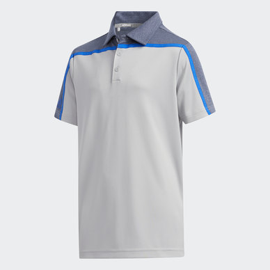 HEATHERED COLORBLOCK POLO SHIRT
