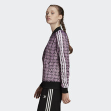 TREFOIL ALLOVER PRINT TRACK JACKET