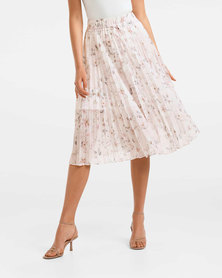 Alexis Pleated Georgette Skirt