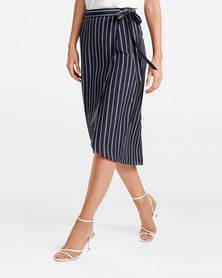 Sandra Wrap Skirt Stripe