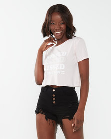 Billabong Kissed Crop Tee White