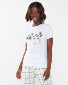Billabong Good Vibes Boyfriend Tee White