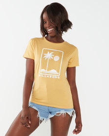 Billabong Here To Stay Boyfriend Tee Yellow