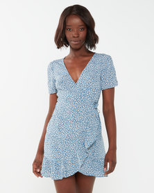 Billabong Florida Wrap Dress Blue