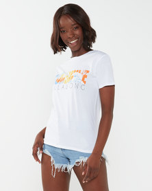 Billabong Sunshine Palms Boyfriend Tee White