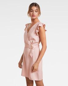 Olivia Wrap Frill Dress