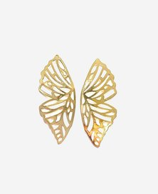 We Heart This Gold Butterfly Statement Earrings