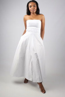 Dope Motherhood Isabella White 100% Pure Cotton Dress
