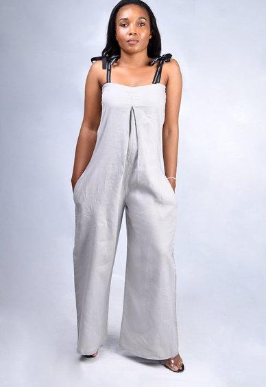 Dope Motherhood Linen Jumper Grey
