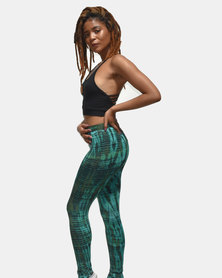 SKA Long Tie Dye Legging Green