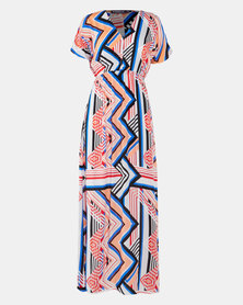 Utopia Geo Print Maxi Dress Multi