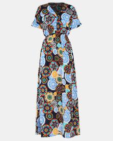 Utopia Geo Print Maxi Dress Black