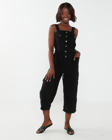 Utopia Utility Jumpsuit Black