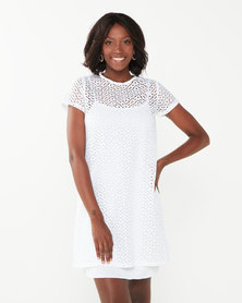 Utopia Anglaise Tunic Dress White