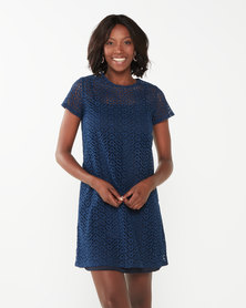 Utopia Anglaise Tunic Dress Navy