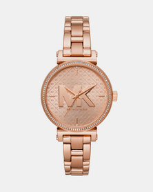 Michael Kors Sofie Link Watch Rose Gold