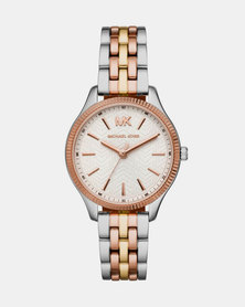 Michael Kors Lexington Tri-Tone Watch Silver