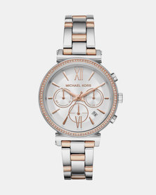 Michael Kors Sofie Jet Set Watch Silver