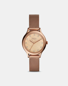 Fossil Laney Stainless Steel Watch Rose Gold